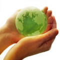 Hands holding the planet Earth