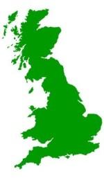 Green United Kingdom map
